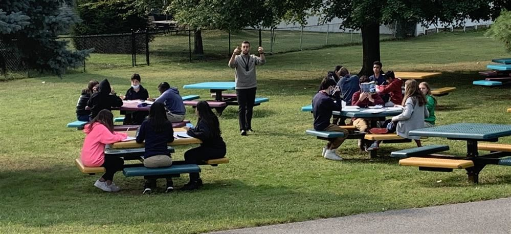 Classes enjoy outside time while weather is nice