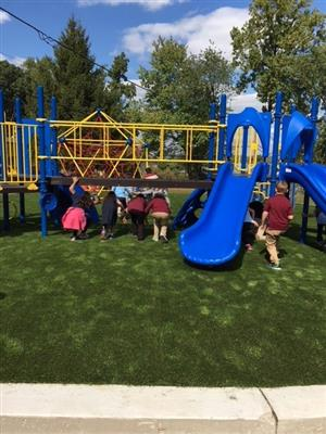 Opening day of new playground at CO