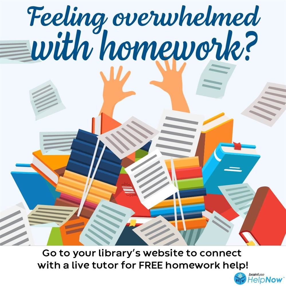 Library service offers free live tutors, homework help