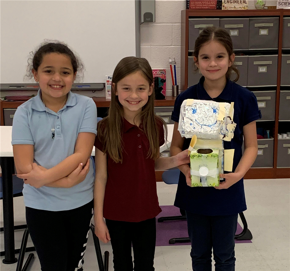Second graders create robot prototypes